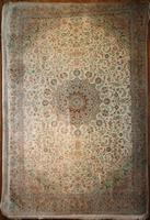 Traditional Fine Silk Persian Kashan Rug