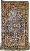 Persian Kashan Mohtashem Rug (Antique -100% Wool)