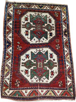 Caucasian Kazak Rug (Antique -100% Wool)
