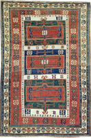 Caucasian Rug (Antique -100% Wool)
