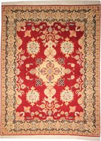 Fine Persian Tabriz Rug (Traditional -100% Wool and Silk on Cotton)