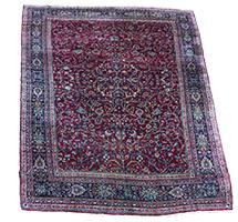 Antique Fine Persian Yazd Rug
