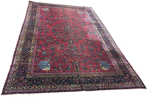 Antique Persian Yazd Rug